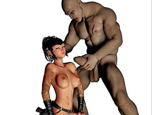 Lusty demon rapes a gorgeous tomb raider