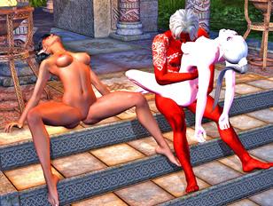 Lusty girls fall for demon priest's spell