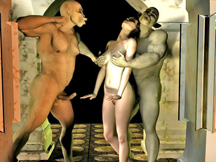 Minotaur tribe tries out the latest shipment of slave girls