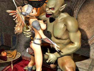 3d elf sex where horrible demon raped cute flying elf