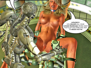 Stunning blonde gets fucked out of her mind by a robot