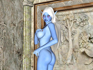 Lovely elven girl caught and fucked by a monster