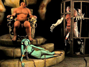 Hot gangbang action with a lovely twi'lek girl