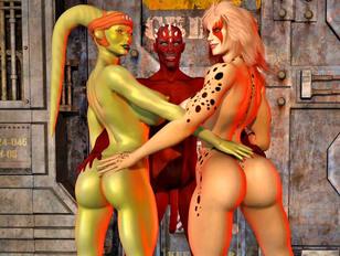 Alien porn where cute whore was raped by alien
