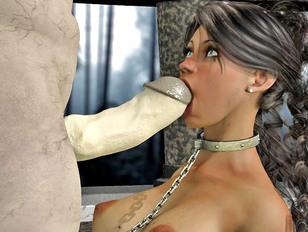 Demon porn pics with brutal BDSM sex and slaves