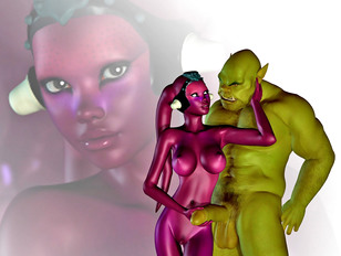 Some really hot busty princess fucked by a huge alien dick