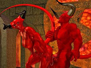 Hellish monsters enjoying kinky sex