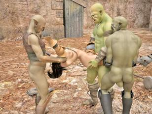 Lusty alien lesbians in hot girl on girl action