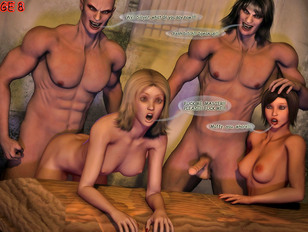 Rape 3d orgy with so much hot busty babes!