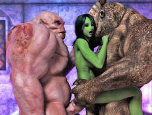3d alien sex with orgies and double penetrations by monsters