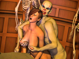 3d cuties experienced double penetrations in orgies with vampires