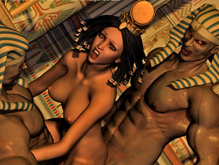 Demon porn with Egypt pharaohs that double penetrated hot brunette