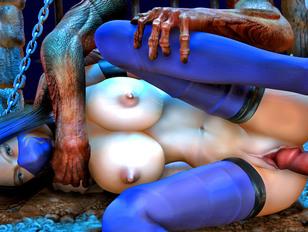 Ugly horny fat monsters deflorating cute virgin girls