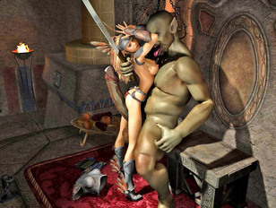 3d moster sex with amazing elf warrior