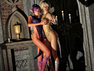 Best 3d babe collection with alien creatures