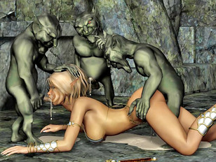 Goblin tribe tries out their new sex slave