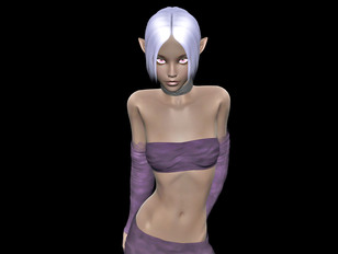 Horny little elven devil loves posing without her clothes on
