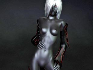 Busty dark elf flaunts her amazing body