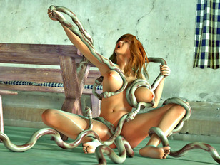 Tentacle xxx with innocent ladies that were raped by monsters