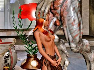 Horny demon deep dicking a gorgeous girl