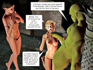 Hot girl gets blinded by ogre cum