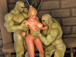 Lovable sexies are enjoying an ultra lovely 3d monster sex and all like that!