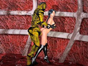 Sexy dominating white slut punishes her elf horny slave