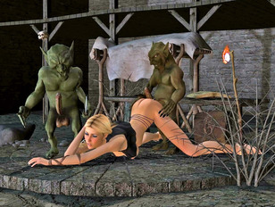 Hot fantasy babes getting fucked by evil aliens and horny monsters