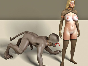 Gruesome monster sex cartoons featuring amazing chicks fucking ugly evil monsters.