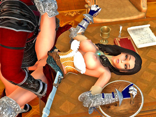 Tempting 3D girls having some hot xxx action with foul creatures