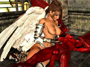 Busty 3D hotties getting fucked by the wicked monsters of underworld