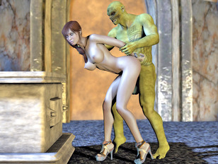 3d monster sex pics with horny babes in different positions