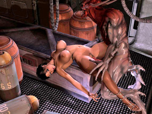bodily babe is brutaly penetrated in 3d evil fuck scene