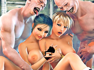Single naked bitch will have some fun with her horny monster neighbor