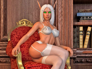Ultra charming 3D elf goddesses showing off their perfect sexy bodies
