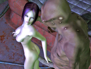 Bizarre 3d gallery showing evil aliens probing unsuspecting young women.
