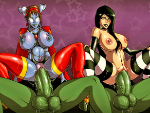Busty cartoon fantasy babes pounded fucked in all of their holes