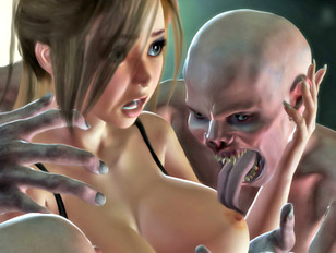 Bizarre world of porncraft pics showing cute elven maidens raped by savage trolls.