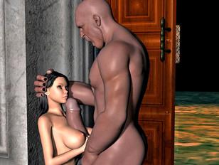 Bizarre hellywood porn showing insane demons raping busty human girls.