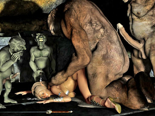 Fantasy babes getting pounded by dragons, trolls and goblins - monstersex gallery