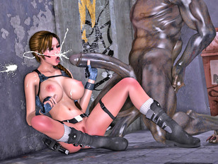 The busty nympho tomb raider gets a big facial - xxx gallery