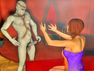 Kinky 3d xxx gallery featuring a busty babe tied up and fucked by a zombie.