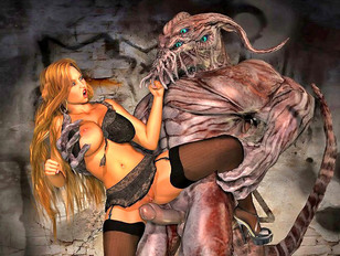 3D girls getting harassed by sex starved monsters and demons