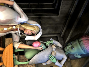 Bizarre 3d porn gallery showing lovely babes fucked by a slimy tentacle.