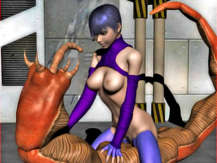 gal patiently waiting for some dick in resident evil 3d scene