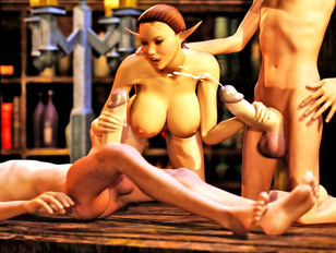 Awesome world of porncraft gallery shows young elf chicks fucked by angry beasts.