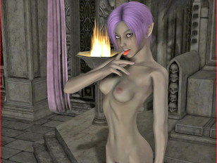 Wonderful 3D alien babes having a threesome with horny green alien