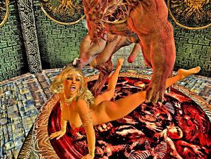 Lovely 3d slut gets forced to fuck an ugly demon.
