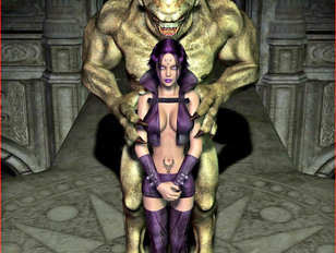 Fantasy beauties showing off their bodies and having sex with monsters