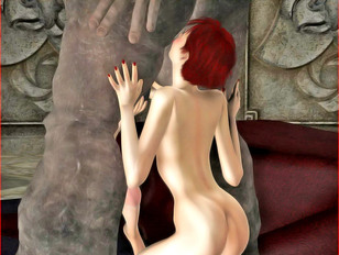 3d rape sex where dark-skinned beauty gets in from behind